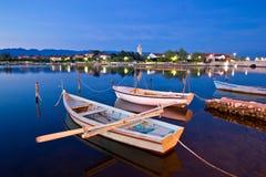 Calm evening in Nin harbor Stock Image