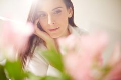 Calm female Stock Images