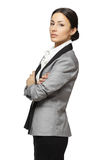 Calm Female With Folded Hands Royalty Free Stock Images