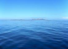 Calm Fiji Seas. Calm seas in the Mamanuca Islands group - Fiji in the far distance is Malolo Lailai stock photography