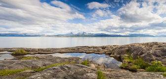 Calm fjord in Northern Norway Royalty Free Stock Photos