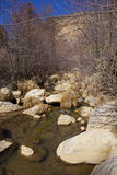 Calm flowing creek with rocks Royalty Free Stock Images