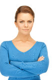 Calm and friendly woman. Bright picture of calm and friendly woman Royalty Free Stock Photography