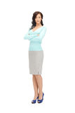 Calm and friendly woman. Bright picture of calm and friendly woman Royalty Free Stock Photo