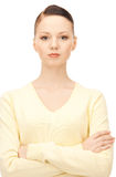 calm and friendly woman Royalty Free Stock Photography