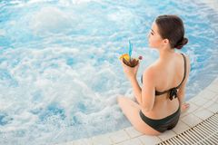 Girl by whirlpool Stock Images