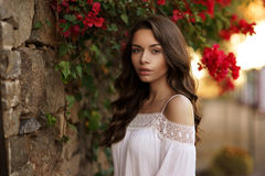 Free Calm Girl With Long Curly Hair Royalty Free Stock Photo - 73471745