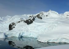 Calm glacier bay in antarctica Stock Images
