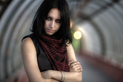Calm goth woman portrait Royalty Free Stock Image