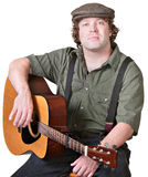 Calm Guitarist Royalty Free Stock Photography