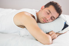 Calm handsome man sleeping Stock Photo