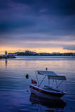 Calm Harbour Before The Storm. Calm harbor during the evening before wind, rain and thundershower located in Cinarcik town of country Turkey. Cinarcik is a small Royalty Free Stock Photos