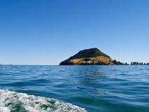 Calm harbour view to Mount Maunganui. Stock Images