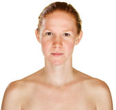 Calm Lady with Bare Shoulders Royalty Free Stock Photo
