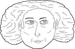 Calm Lady with Curly Hair Stock Photos