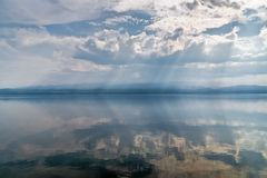Calm on the lake Baikal Royalty Free Stock Photo