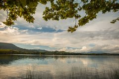 Calm lake in Banyoles Royalty Free Stock Photo