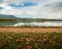 Calm lake in Banyoles Stock Image
