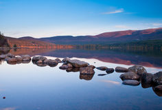 Calm lake in evening royalty free stock image