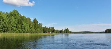 A calm lake  in Norrbotten Royalty Free Stock Photo