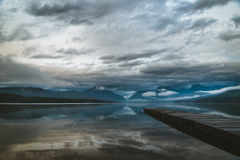 Calm lake on an overcast day. Stock Photography