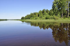 Calm lake reflection Stock Photography