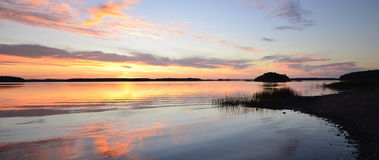 Calm lake reflection Stock Photo