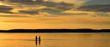 Calm lake reflection Royalty Free Stock Image