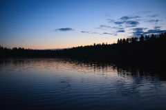 Calm lake scape at summer night Stock Image