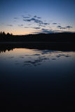 Calm lake scape at summer night Royalty Free Stock Photo