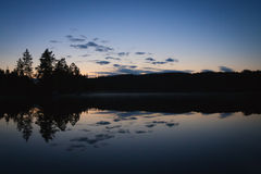 Calm lake scape at summer night Royalty Free Stock Photos