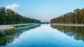 Lake with reflections, lake in the forest with reflections royalty free stock photos