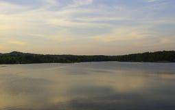 Calm lake at sunset Royalty Free Stock Image