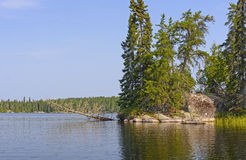 Calm Lake in the Wilderness Royalty Free Stock Image