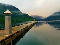 Calm harbour. Afternoon in Ocean falls,BC royalty free stock images