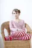 Calm little girl Stock Photography