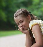 Calm little girl Stock Photos