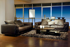 Calm living room Stock Images