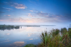 Calm misty morning over lake Royalty Free Stock Photo