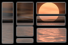 Calm moon. Graphic banners and logos Royalty Free Stock Images