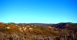A Calm Moon over the Mountains. This is a picture of the moon over the Cuyamaca Mountains Stock Images