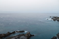 Calm morning over Tenerife seacoast long exposure view Royalty Free Stock Image