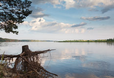 Calm morning on river Stock Photography