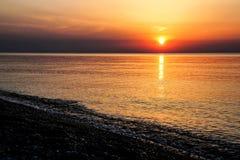 Calm morning at the sea shore Stock Photography