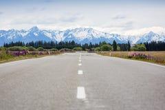 Calm mountain road Stock Photography