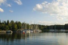 Calm nature harbour Stockholm archipelago Royalty Free Stock Image