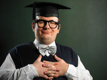 Calm nerd Royalty Free Stock Photo