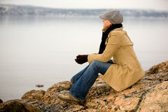 Calm by Ocean Royalty Free Stock Image