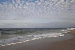 Calm Ocean. Ocean horizon at the beach Royalty Free Stock Photos
