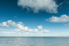 Calm ocean on the North Sea Coast, Germany Stock Images